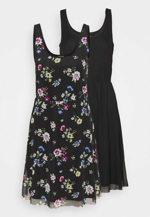 2 PACK - Day dress - black/multi-coloured