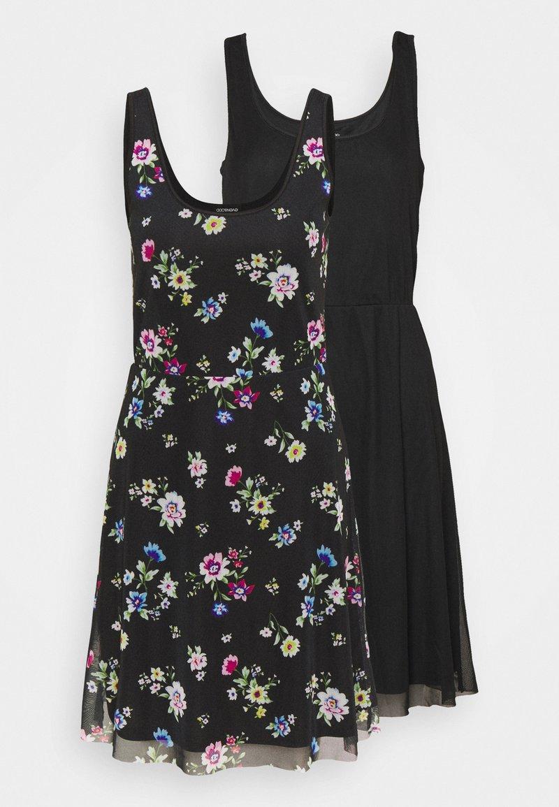 Even&Odd Tall - 2 PACK - Day dress - black/multi-coloured