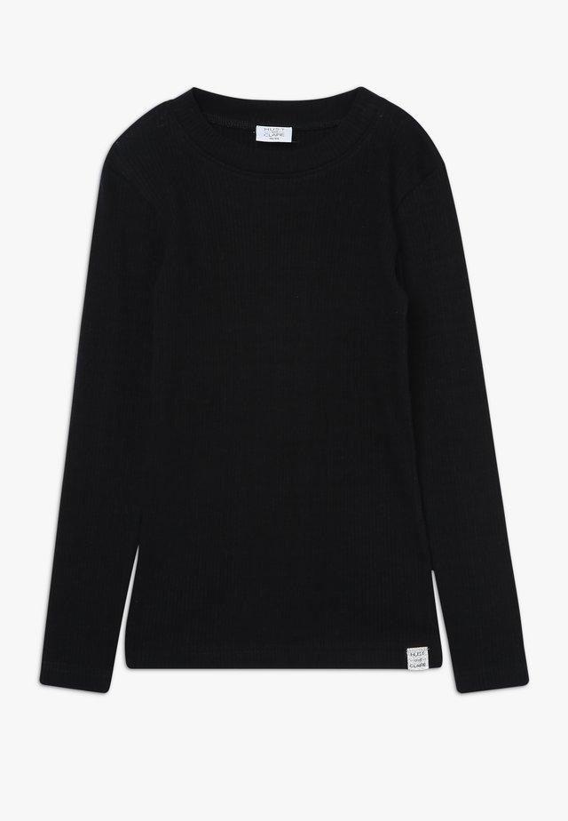 ANJA - Long sleeved top - black