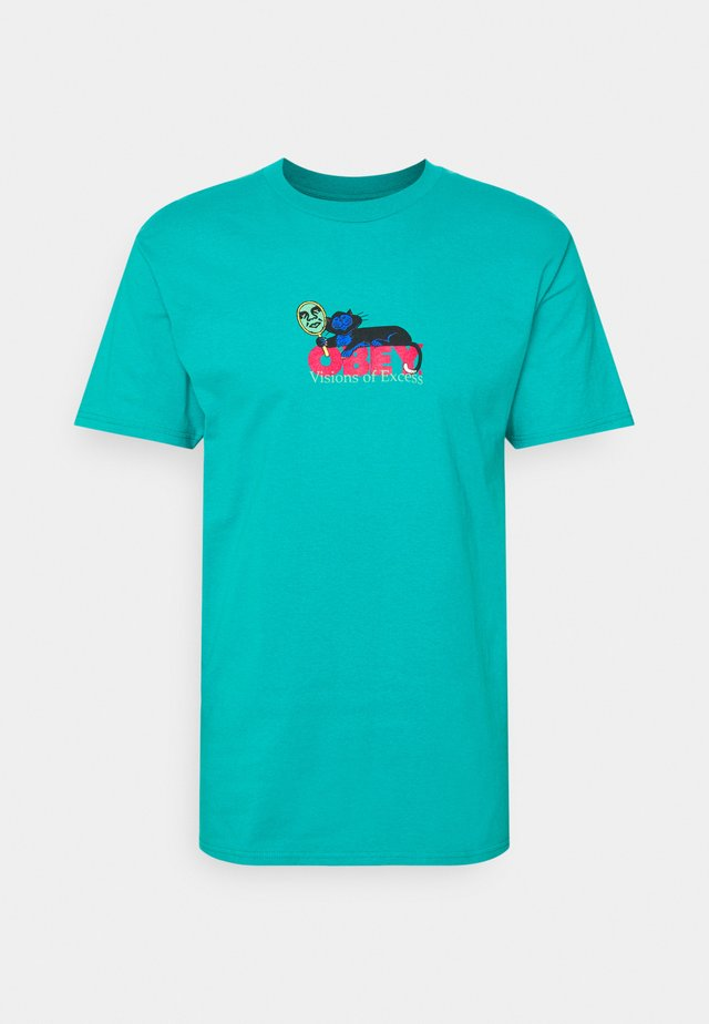 VISIONS OF EXCESS - T-shirt print - teal
