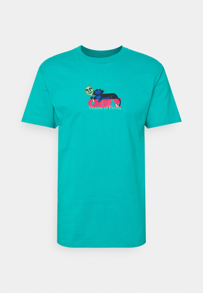 Obey Clothing - VISIONS OF EXCESS - Printtipaita - teal
