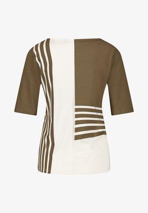Print T-shirt - green,beige,white