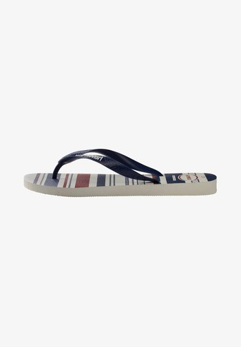 TOP NAUTICAL - Pool shoes - white/navy/blue