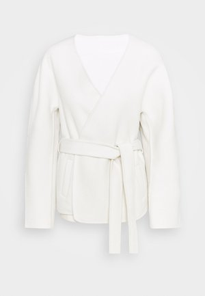 AMELIE WRAP JACKET CASHMERE MIX - Summer jacket - ivory