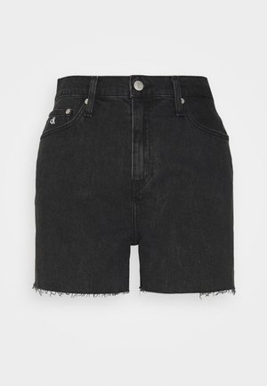 MOM SHORT - Jeansshorts - denim black