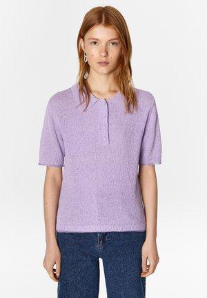 BIMBA Y LOLA LILAC RIPPLE POLO - Polo shirt - lilac