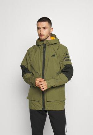 UTILITAS - Outdoor jacket - focus olive/orange