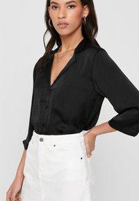 JDY - Button-down blouse - black - 3