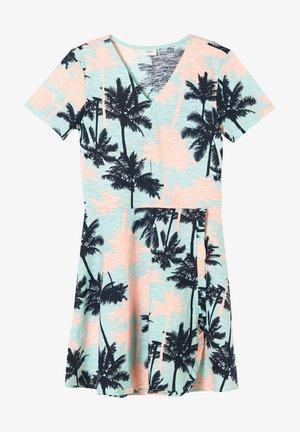 Jersey dress - aqua aop