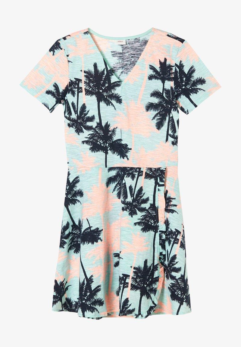 s.Oliver - Jersey dress - aqua aop