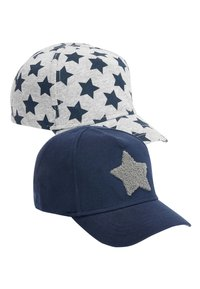 Next - NAVY/GREY 2 PACK STAR CAPS (YOUNGER) - Cap - blue - 0