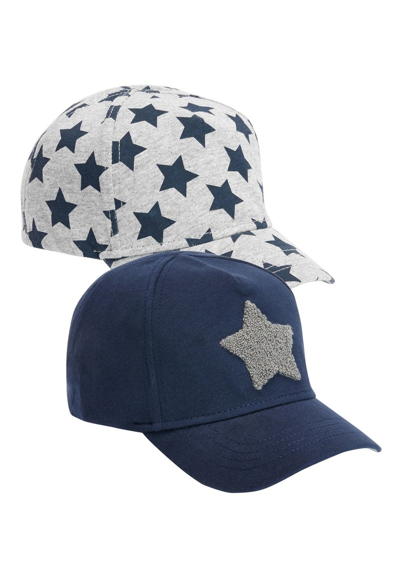 Next - NAVY/GREY 2 PACK STAR CAPS (YOUNGER) - Cap - blue