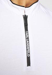 KARL LAGERFELD - Jednoduché triko - white/black - 6