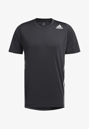 FREELIFT 3-STRIPES T-SHIRT - Print T-shirt - black