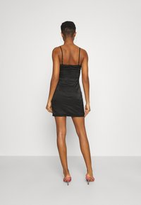 Missguided - SQUARE NECK TWIST FRONT MINI DRESS - Cocktail dress / Party dress - black - 2