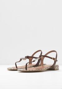 Emporio Armani - T-bar sandals - testa di moro/ecru - 2