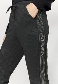 ONLY Play - ONPONAY SLIM PANTS - Træningsbukser - black/silver - 4