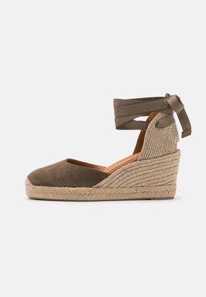 CANDIDA - Platform sandals - salvia