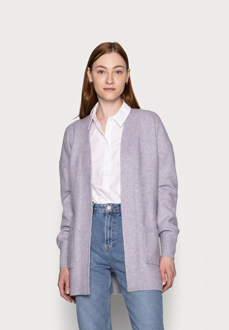 Gap Tall - BELTED OPEN SUPER PLUSH - Cardigan - frosted lilac