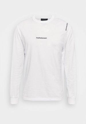 VIBE TEE - Long sleeved top - white
