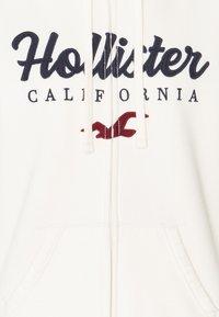 Hollister Co. - TECH CORE SHERPA - Zip-up hoodie - cream - 2