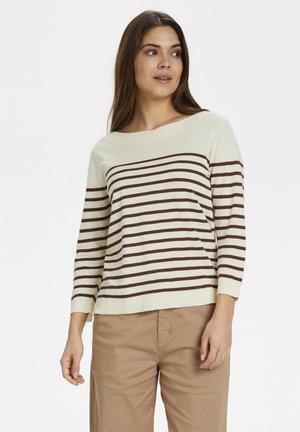 Jumper - stripe brown