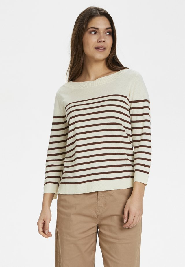 Jumper - stripe brown