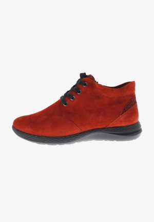Lace-up ankle boots - rouge