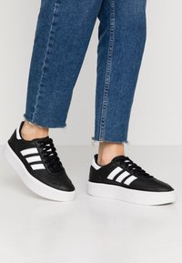 adidas Originals - SLEEK SUPER 72 - Sneakers - core black/footwear white/crystal white - 0