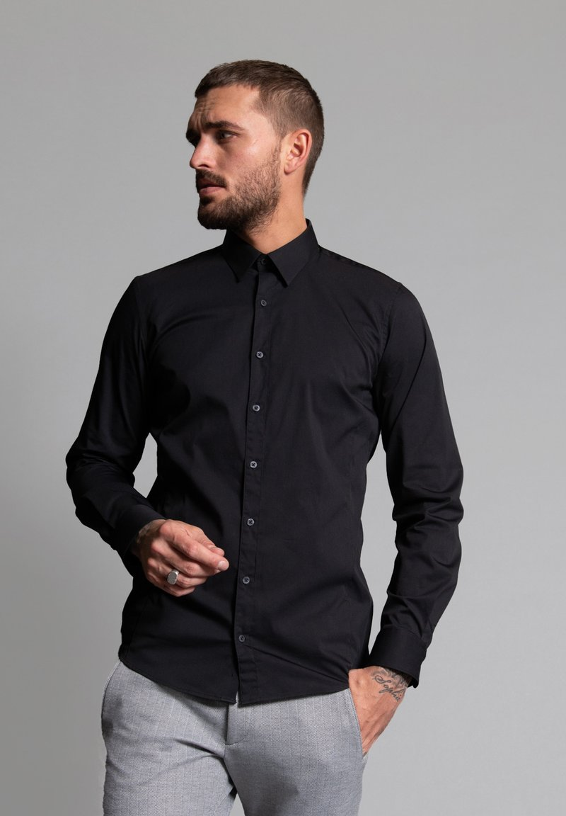 WORMLAND - SLIM FIT  - Formal shirt - schwarz