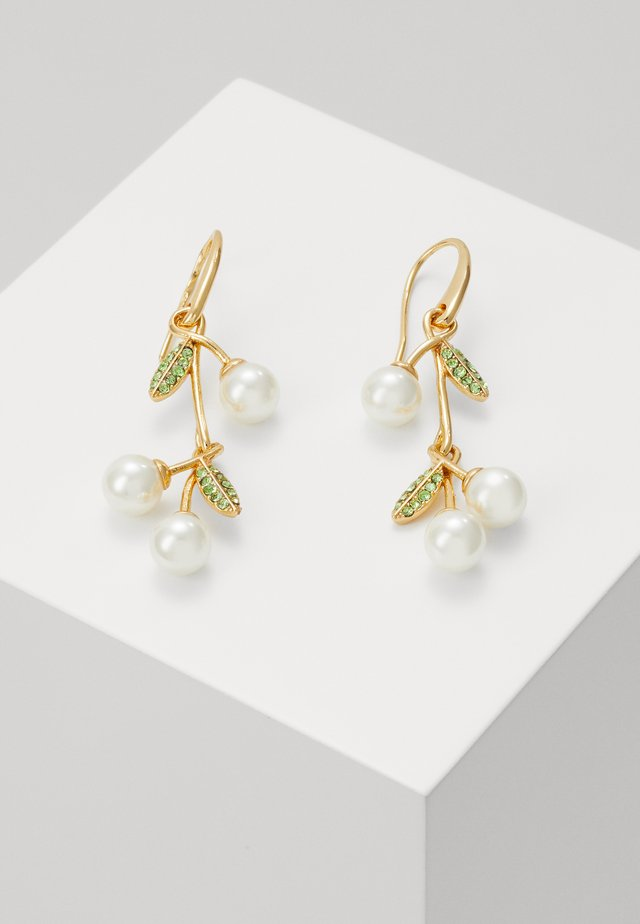 CHERIE CHERRY LINEAR EARRINGS - Boucles d'oreilles - cream/multi-coloured