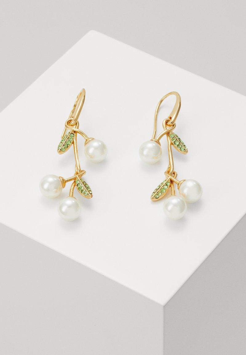 kate spade new york - CHERIE CHERRY LINEAR EARRINGS - Earrings - cream/multi-coloured
