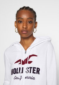Hollister Co. - TERRY TECH CORE - Zip-up hoodie - white - 3