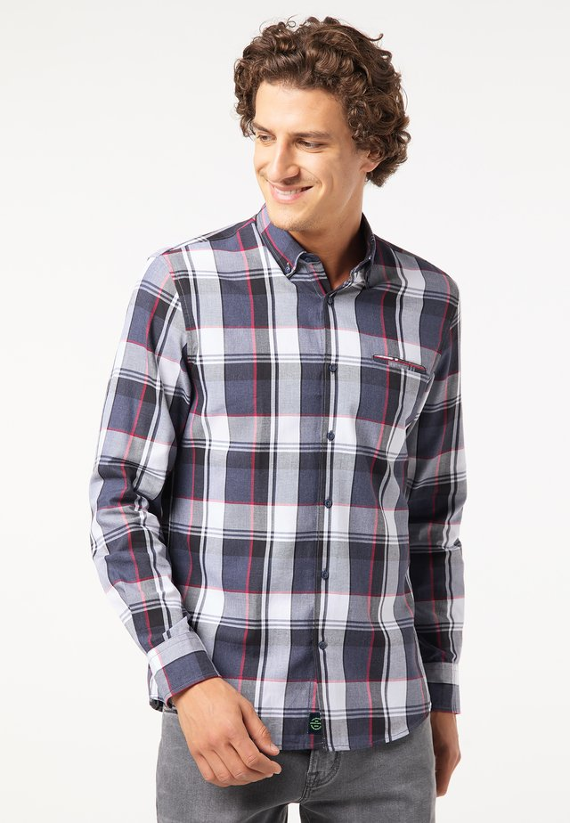 Overhemd - blau/rot