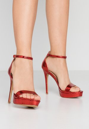 MADALENE - High heeled sandals - other red