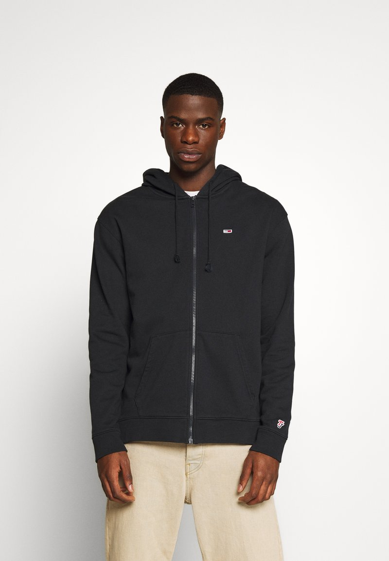 Tommy Jeans - CLASSICS ZIPTHROUGH - Mikina na zip - black