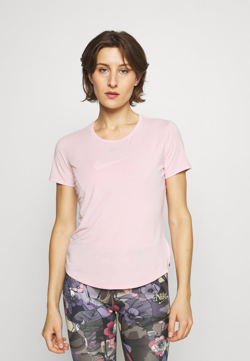 Nike Performance - ONE LUXE - T-shirt basic - pink glaze/reflective silver