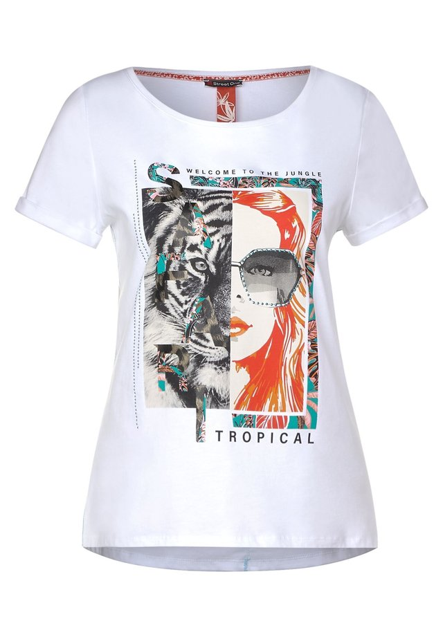 MIT FRONTPRINT - Print T-shirt - weiß