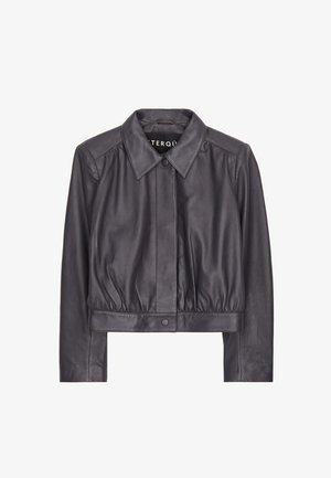 Kožená bunda - grey
