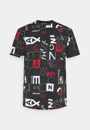 T-shirt con stampa - black/red