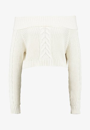 BARDOT CABLE CROP JUMPER - Jumper - cream