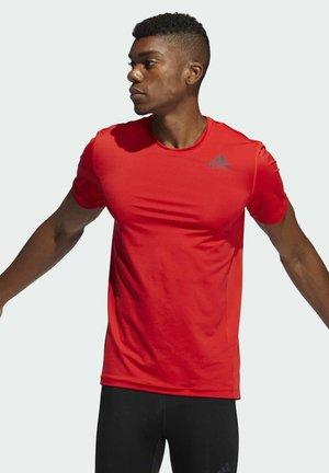 TURF SS PRIMEGREEN TECHFIT TRAINING WORKOUT COMPRESSION T-SHIRT - Print T-shirt - red