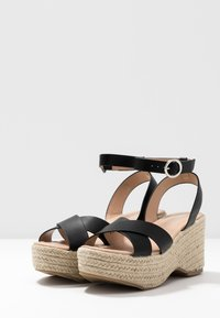 Simply Be - WIDE FIT TUSCANY - High heeled sandals - black - 4