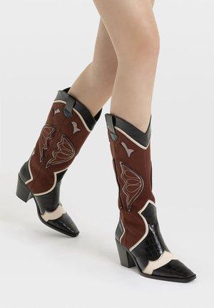 Cowboy/Biker boots - multi-coloured