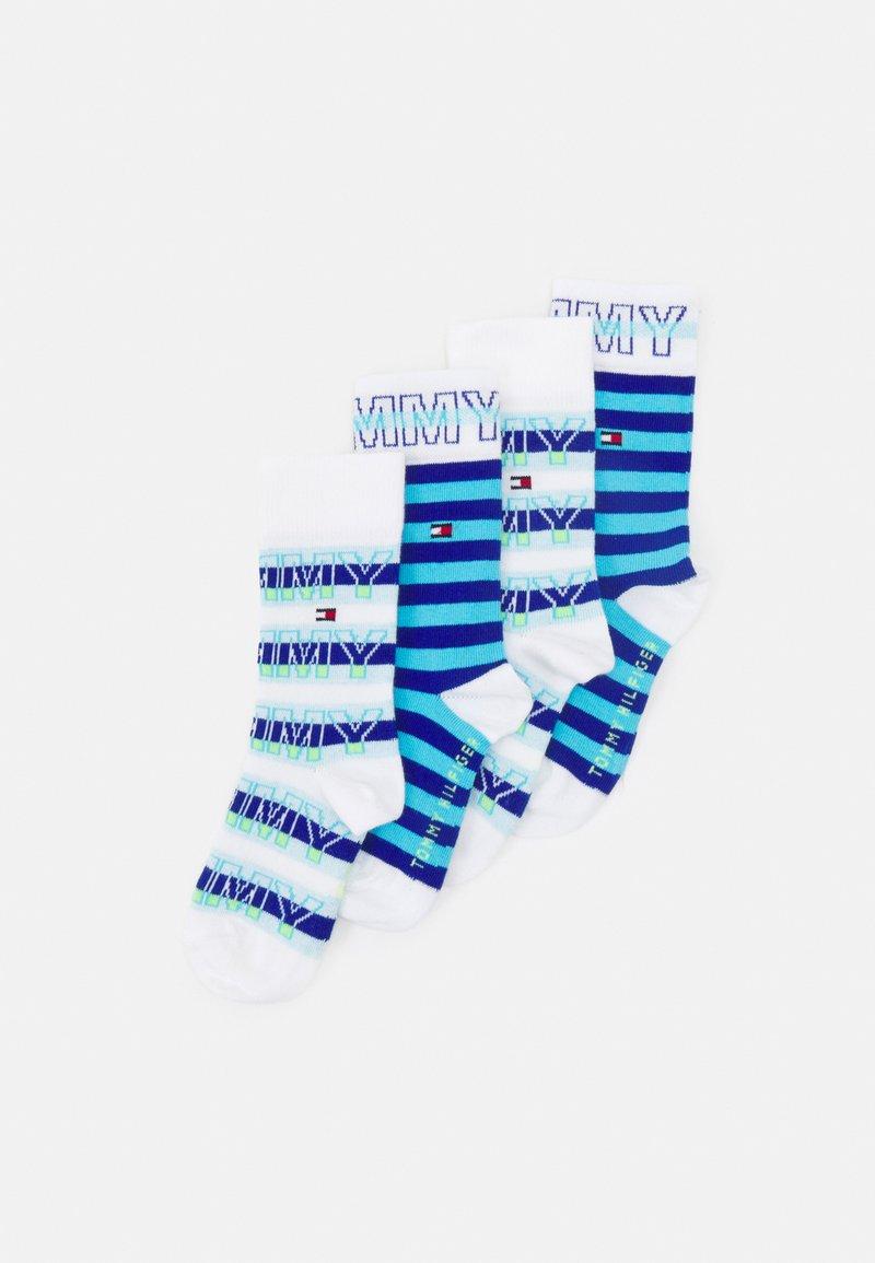 Tommy Hilfiger - KIDS SOCK WORDING 4 PACK UNISEX - Socks - blue combo