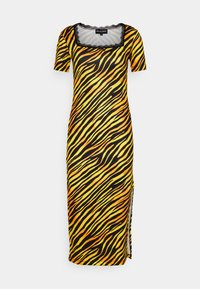 NEW girl ORDER - TIGER SQUARE NECKLINE BODYCON DRESS - Jersey dress - orange - 0