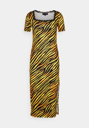 TIGER SQUARE NECKLINE BODYCON DRESS - Robe en jersey - orange