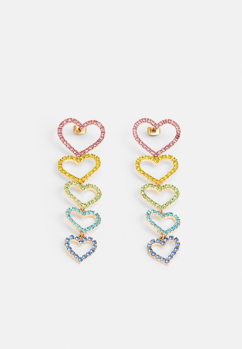 Pieces - PCKISTIE EARRINGS - Orecchini - gold-coloured/multi