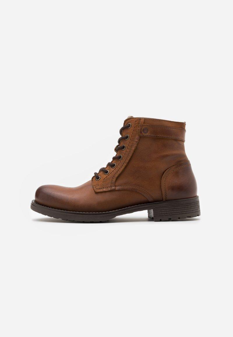 Jack & Jones - JFWANGUS - Lace-up ankle boots - cognac