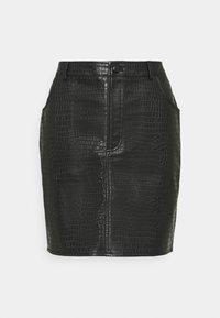 Missguided - CROC MINI SKIRT - Mini skirt - black - 0